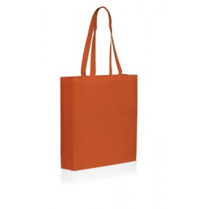 Shopper in TNT con soffietto cm 38x42x10