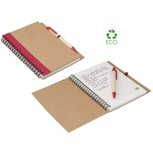 Block notes Priestly 14x18 in carta riciclata con penna