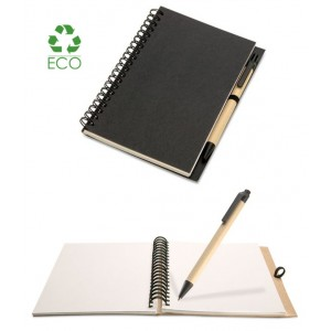 Notebook Bloquero 13x18 in carta riciclata con penna