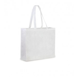 Shopper in TNT con soffietto cm 37,5x33,5x10
