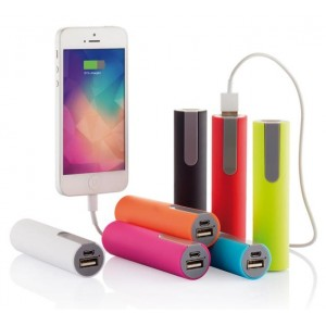 Power Bank in ABS colorato soft-touch 2200 mAh