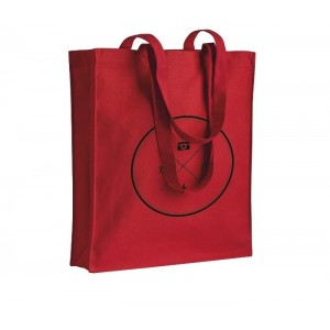 Shopper in canvas 280gr/m² con soffietto cm 38x42x8