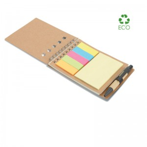 Set memo Multibook con block notes in cartone riciclato