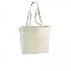 Shopper Ningbo con zip in cotone 340gr/m² cm 46,5x30,5x11