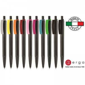 Penna a sfera e-Twenty Black Erga Made in Italy
