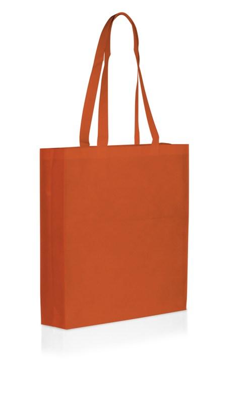 Shopper in TNT con soffietto cm 38x42x10