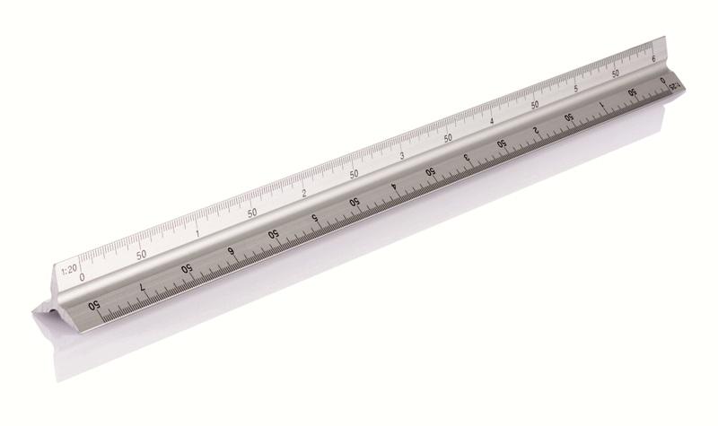 Scalimetro in alluminio 30 cm