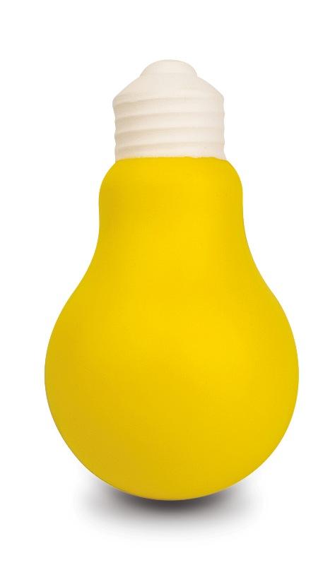 Lampadina gialla antistress in morbido PU