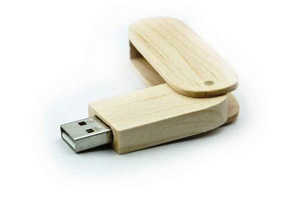 Chiave USB Legno con cap rotante