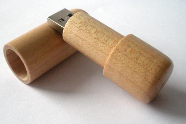 Chiave USB Legno cilindrica