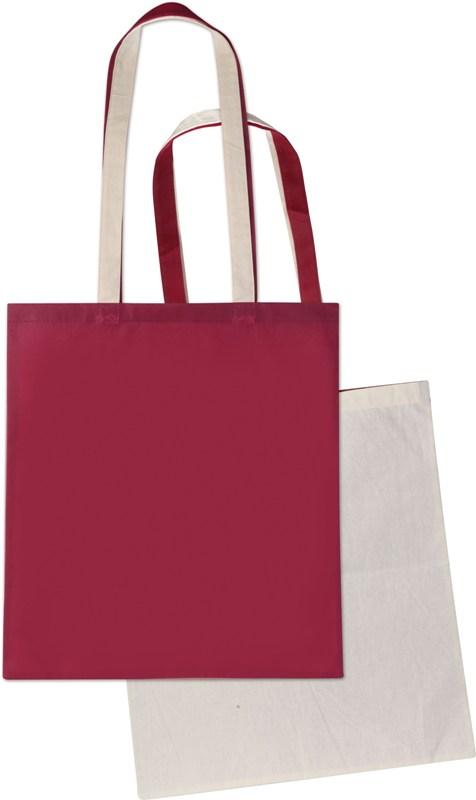 Shopper in cotone naturale e TNT cm 38x42