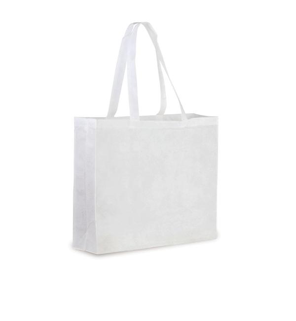 Shopper in TNT con soffietto cm 37,5x33,5x10
