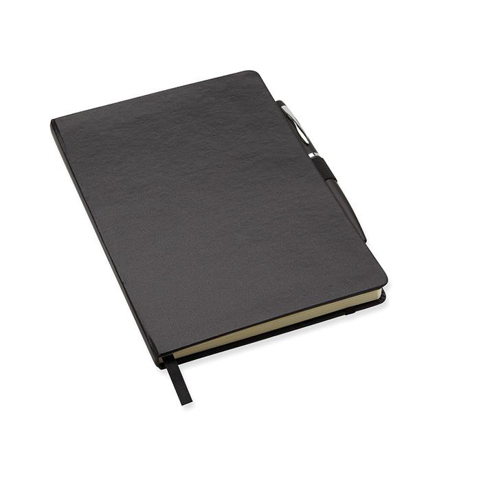 Quaderno A5 con penna in metallo coordinata