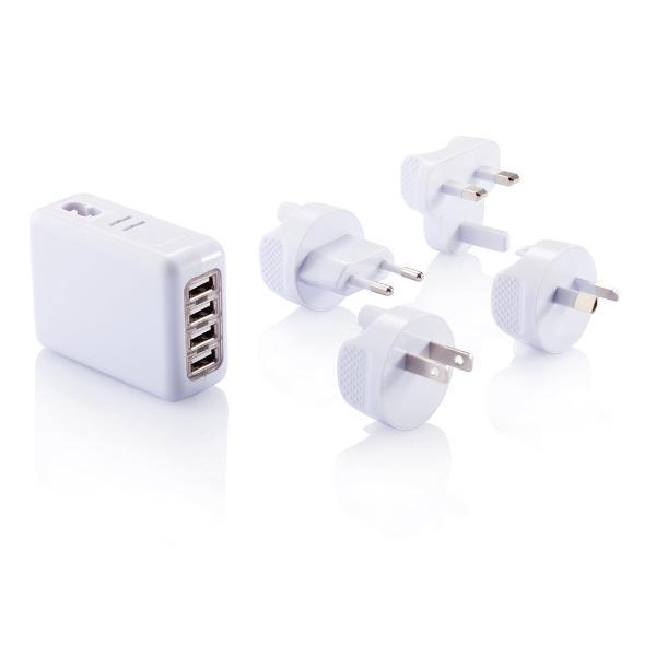 Adattatore da viaggio con 4 porte USB