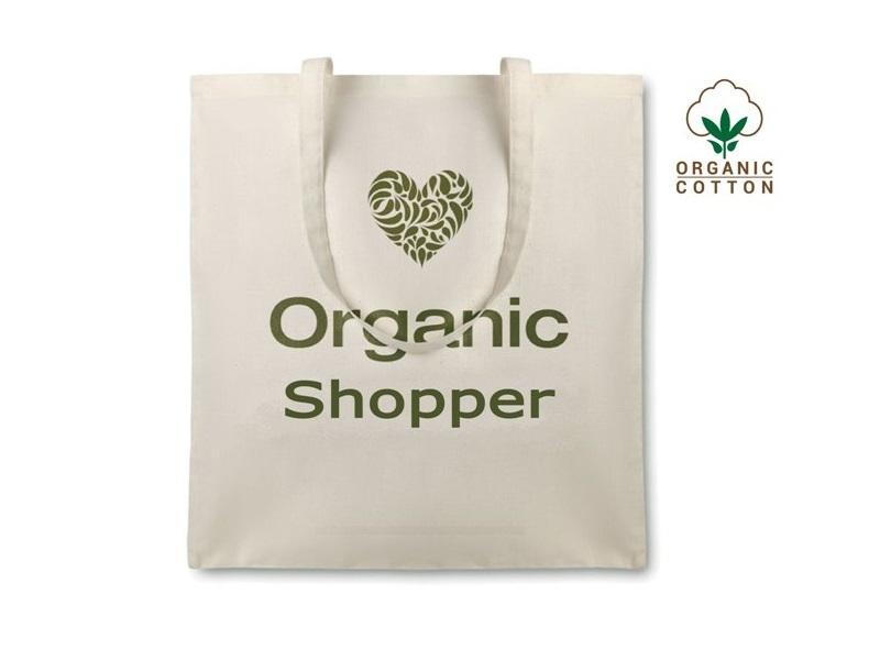 Shopper in cotone Organic Cottonel cm 38x42