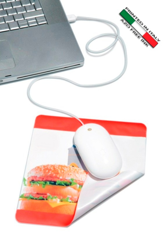 Slim mouse pad in microfibra