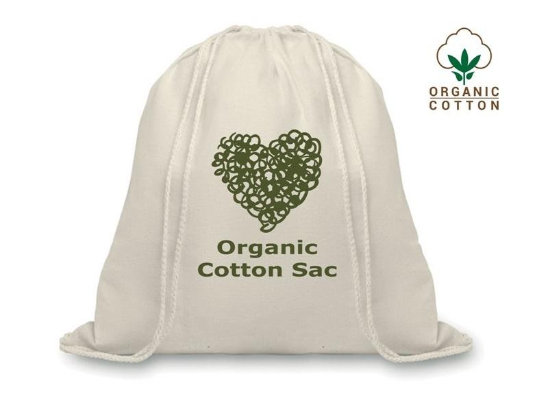 Zaino sacca in cotone organico