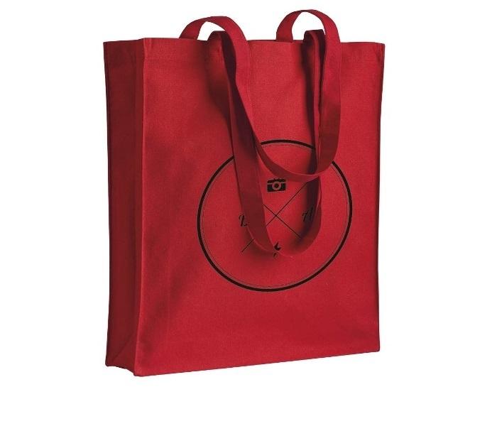 Shopper in canvas 280gr/m² con soffietto cm 38x42x8