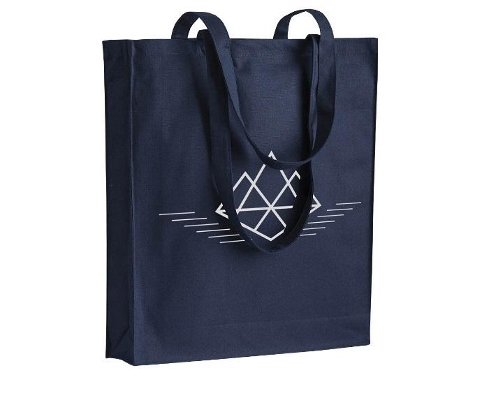 Shopper in cotone 250gr/m² con zip cm 38x42x8