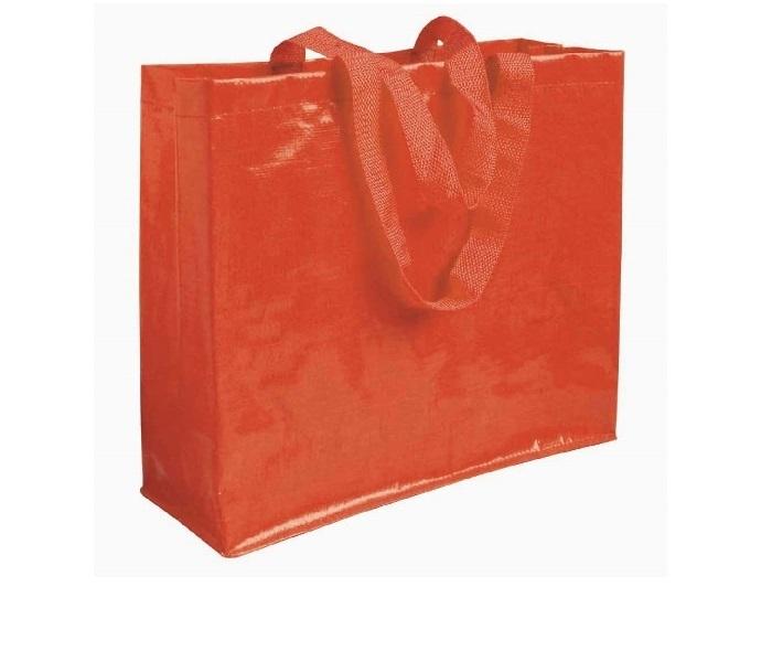 Shopper in PP laminato con soffietto cm 40x35x14