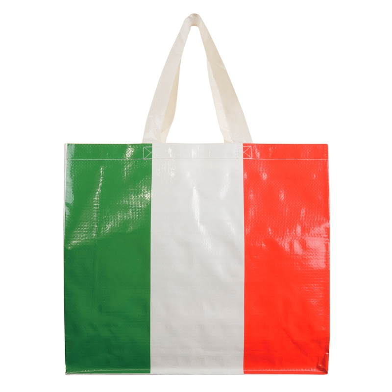 Shopper Italia in PP laminato con soffietto cm 40x35x14