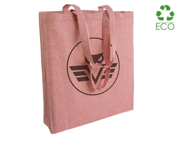 Shopper in cotone riciclato 150 g/m² con soffietto cm 38x42x8