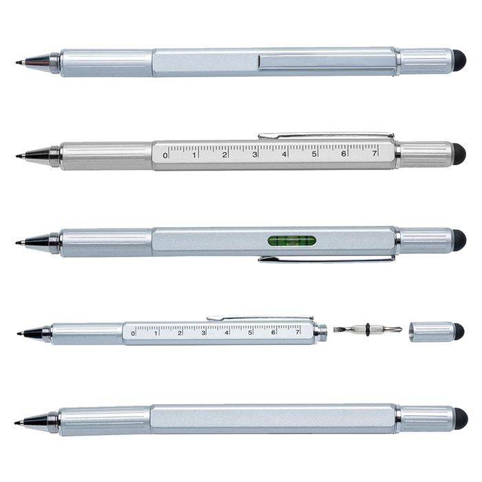Penna multi attrezzo 5 in 1