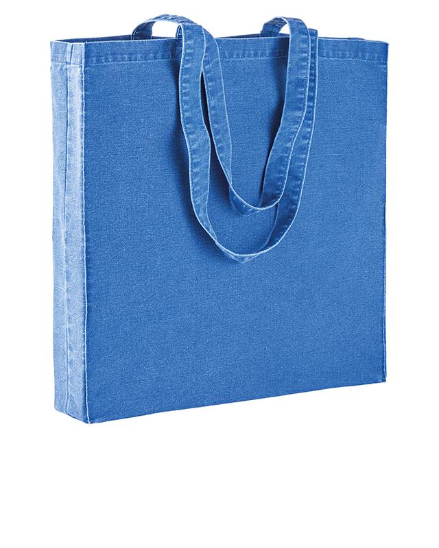 Shopper in cotone stonewashed 220gr/m² con soffietto cm 38x42x8