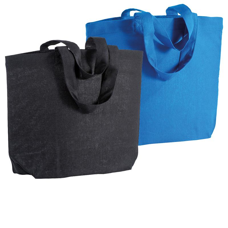 Shopper in cotone 120 g/m² con soffietto alla base cm 32x24x10