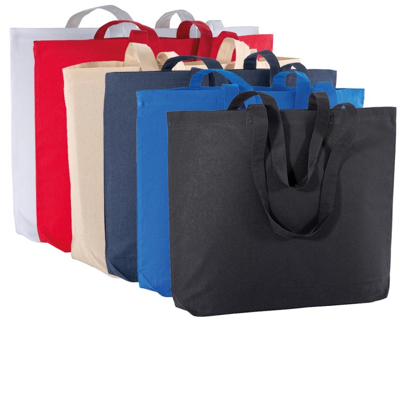 Shopper in cotone 135 g/m² con soffietto alla base cm 50x38x15