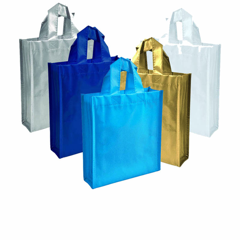 Mini Shopper in TNT laminato con soffietto cm 23x25x7
