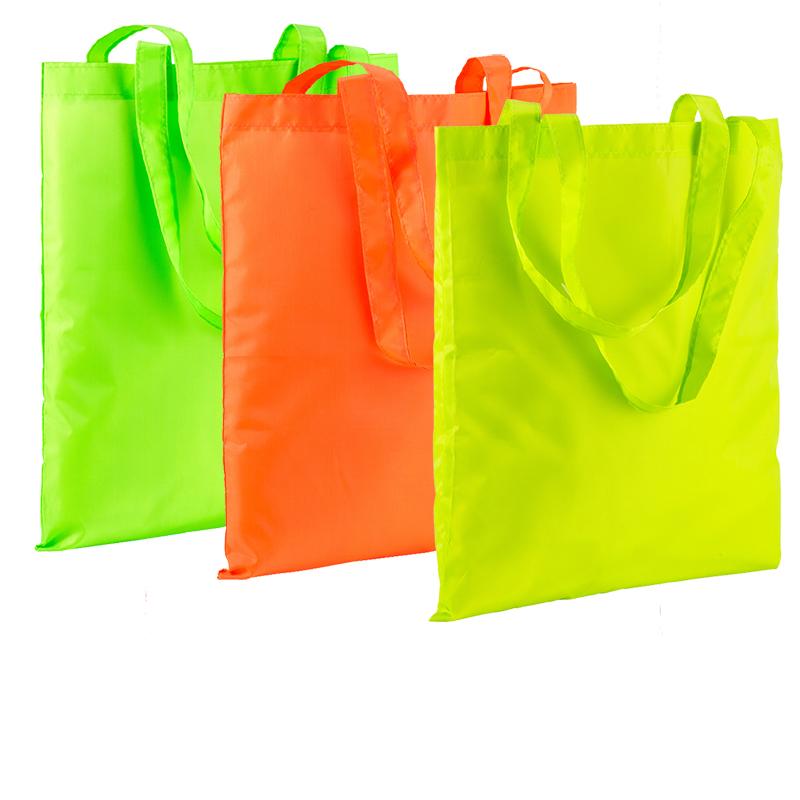 Shopper fluo con manici lunghi cm 37x42