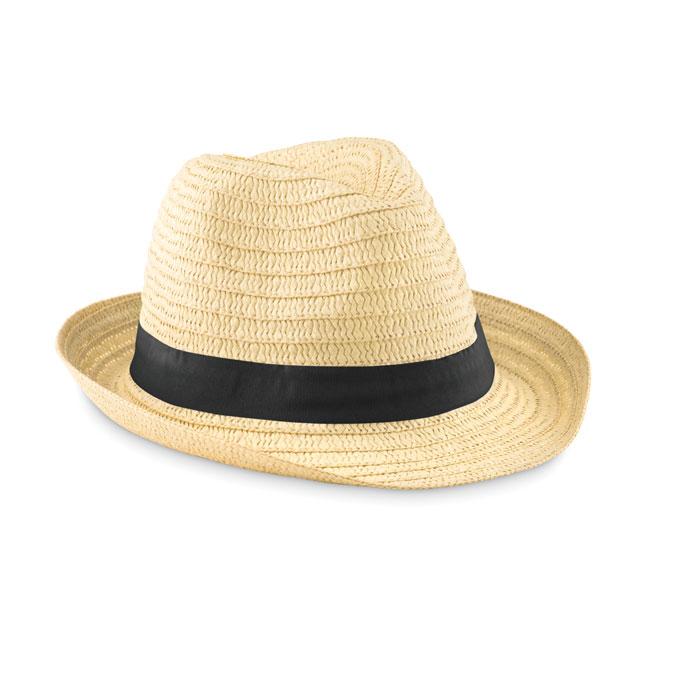 Cappello in paglia naturale con banda colorata - Boogie