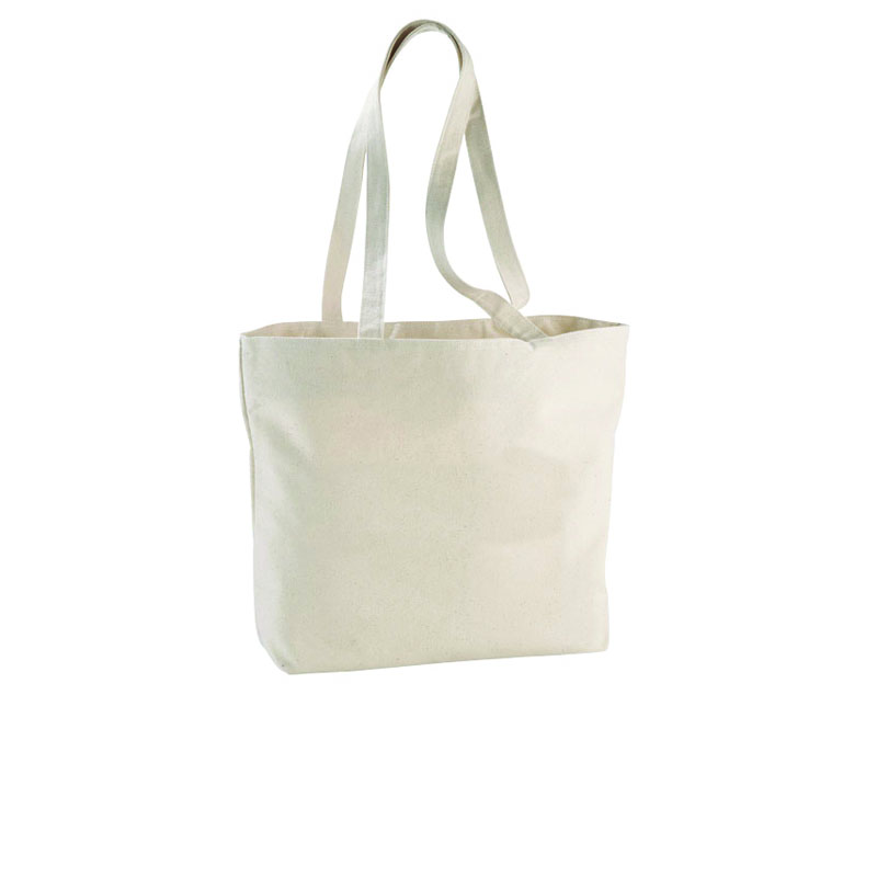 Shopper Ningbo con zip in cotone 340gr/m² cm 46,5x30,5x11