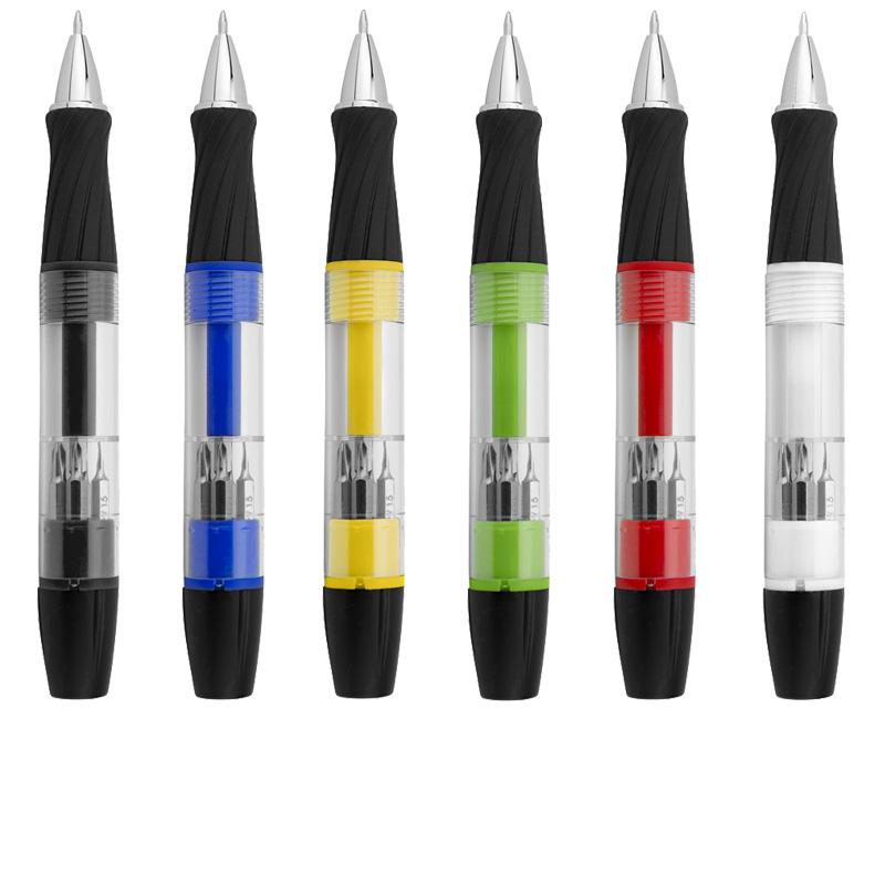 Penna 3 funzioni con luce e cacciavite King