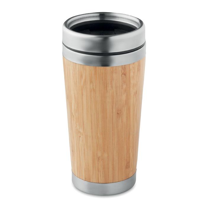 Bicchiere termico Rodeodrive+ con rivestimento in bamboo 400ml