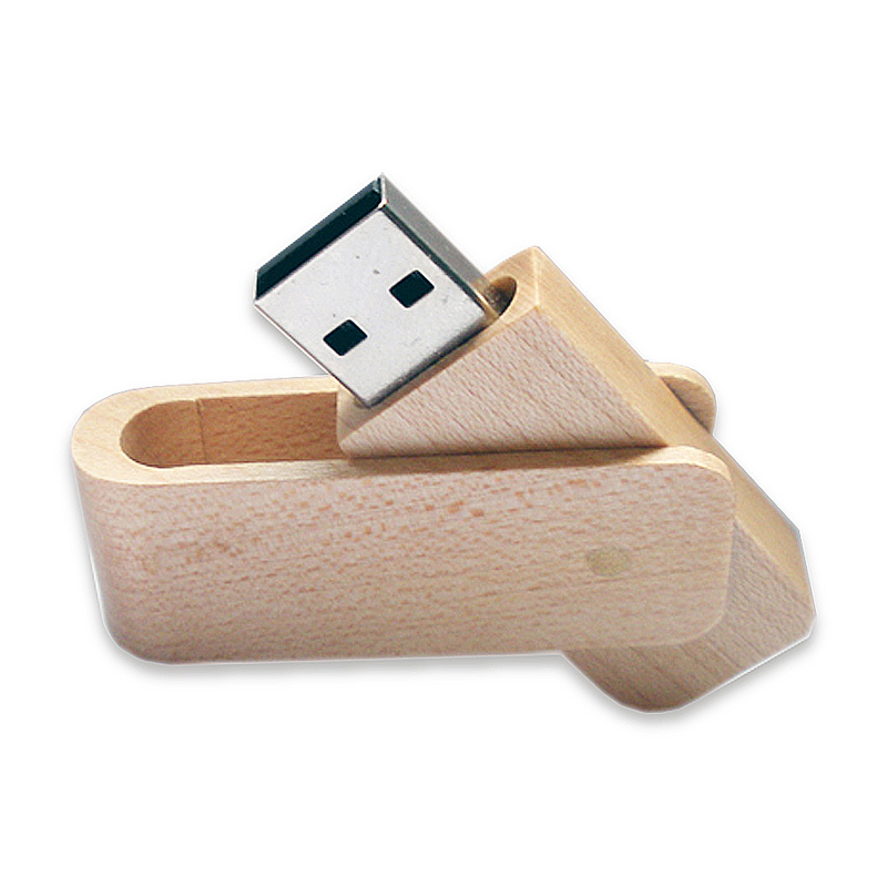 Chiave USB Legno con capsula rotante
