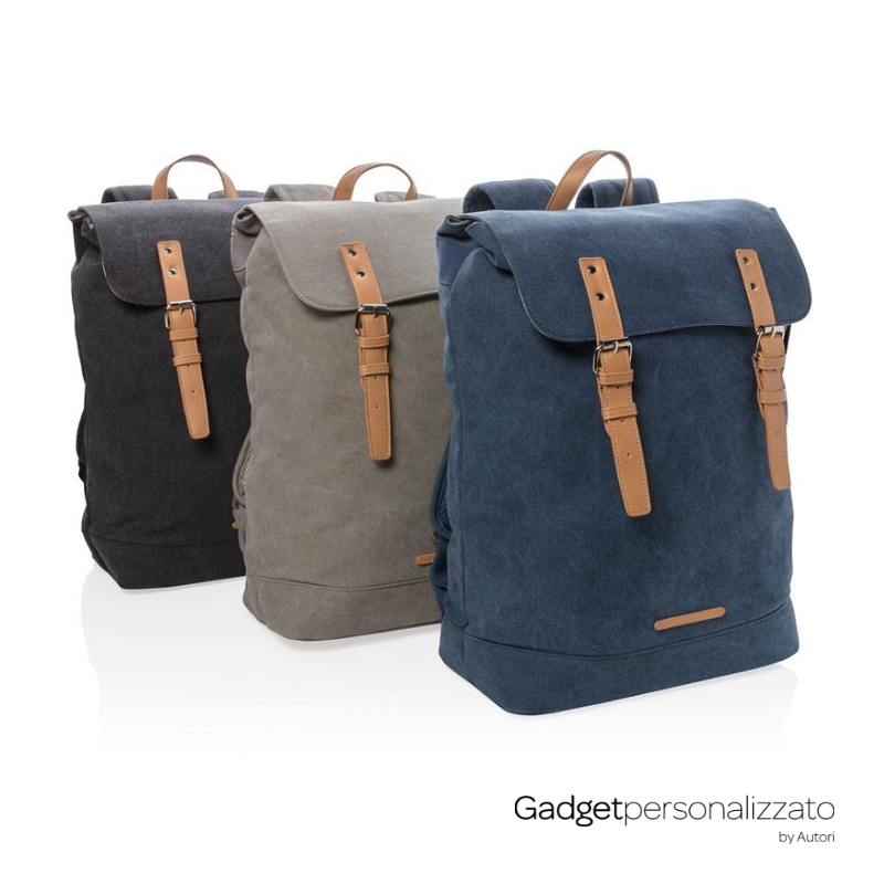 Zaino porta PC in canvas