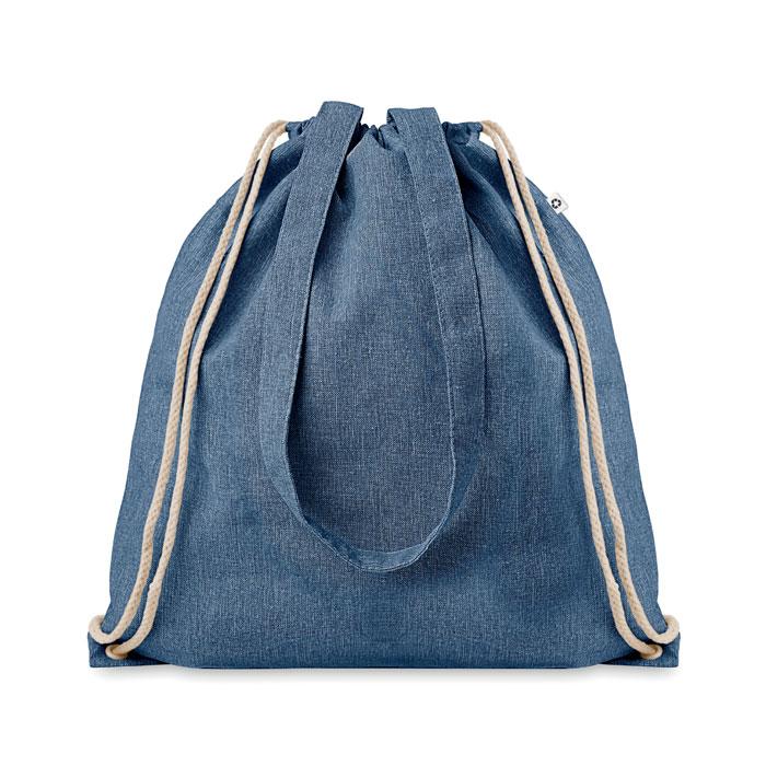 Zaino sacca con manici Moira Duo in poliestere e cotone riciclati