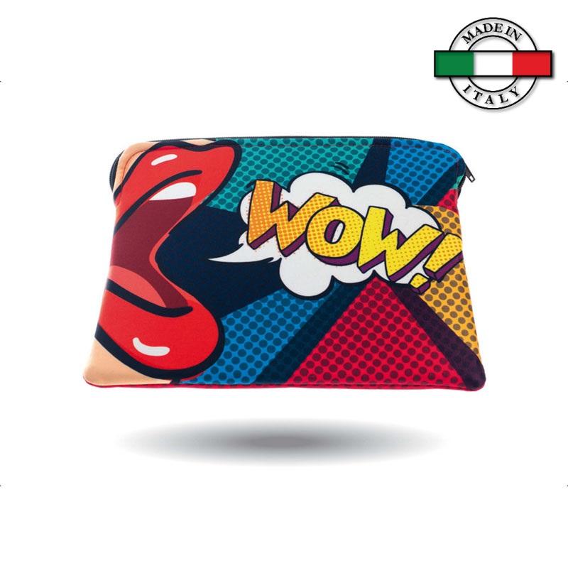 Custodia I-Pad con cerniera - Made in Italy
