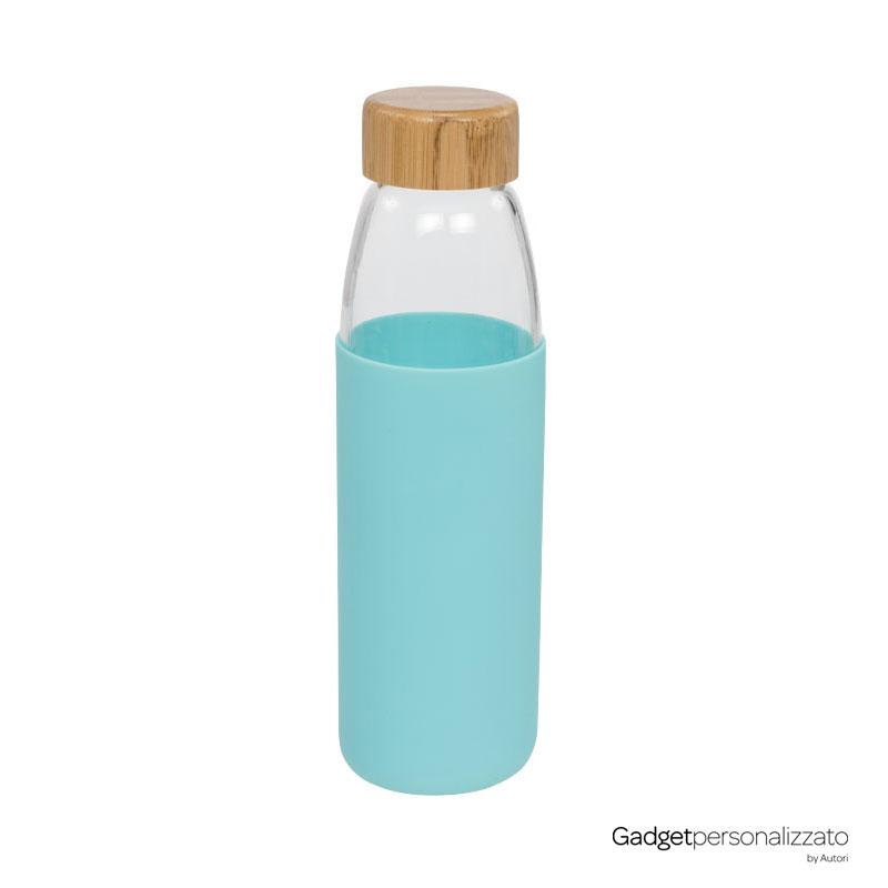 Borraccia Kai in vetro con tappo in bamboo 540 ml