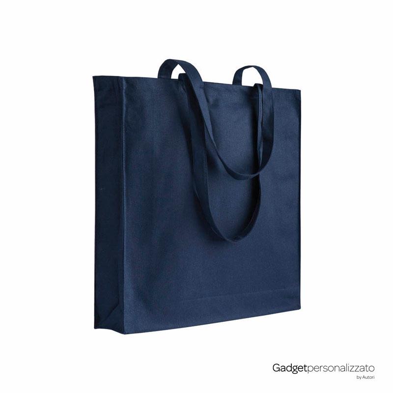 Shopper in cotone 180gr/m² con soffietto cm 38x42x8