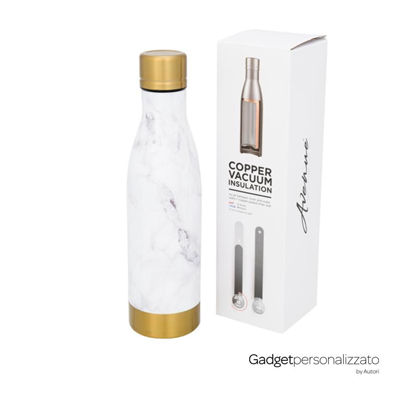 Bottiglia Vasa Marble inox con isolamento sotto vuoto effetto marmo 500 ml