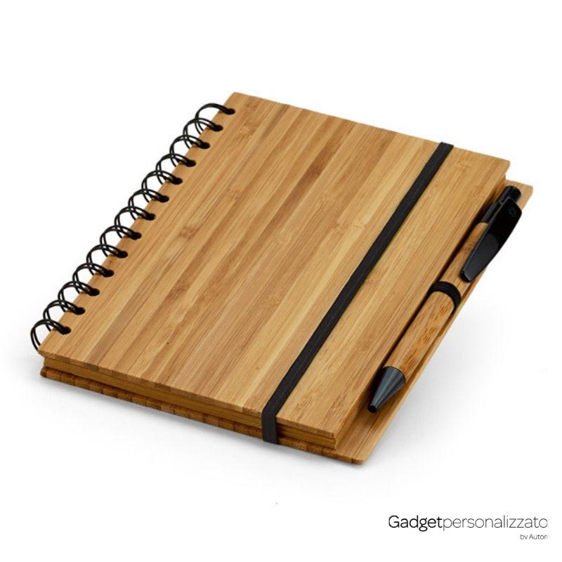 Quaderno A5 e penna in bambù SK93485.jpg