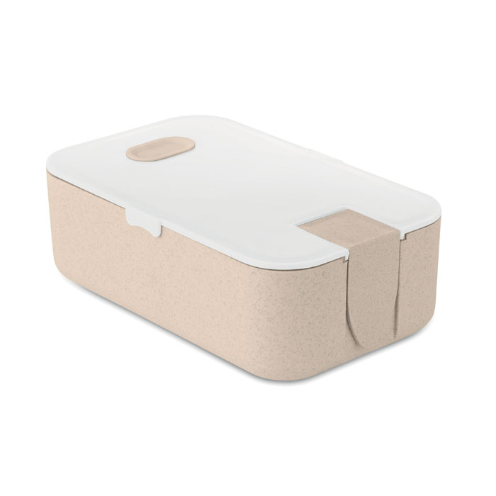 Lunch box portapranzo in fibra di grano con stand per telefono