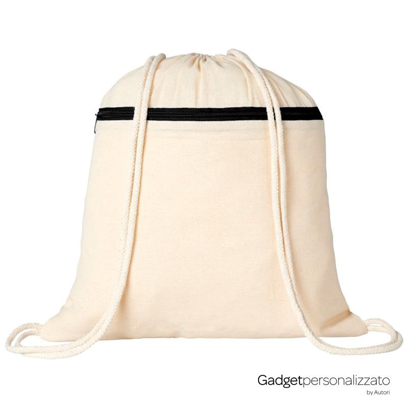 Zaino sacca con cerniera Oregon in cotone