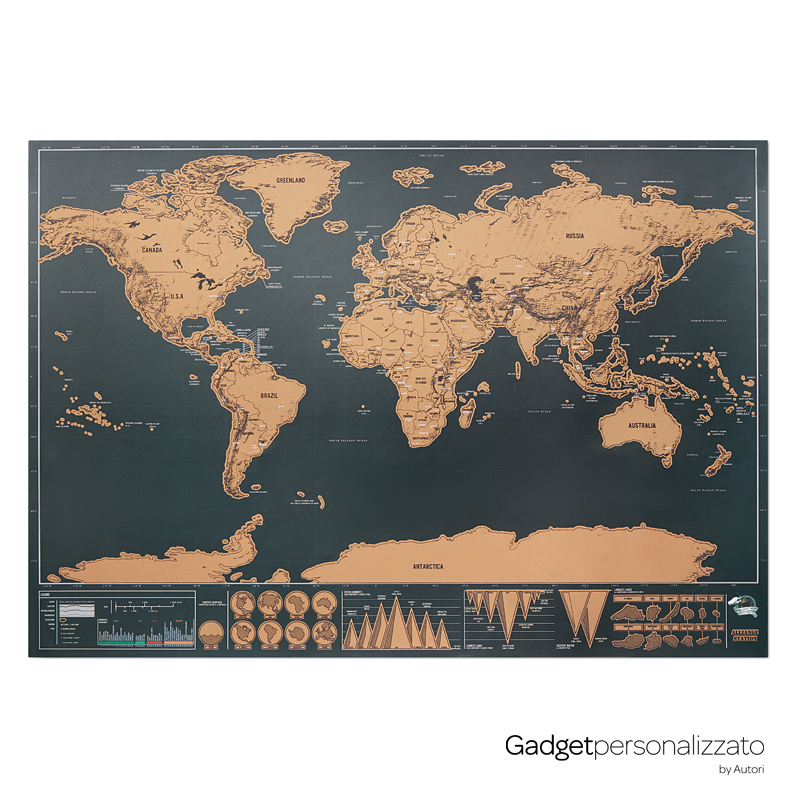 Cartina geografica in carta cromata Been There