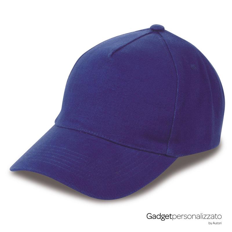 Cappellino 5 pannelli in cotone pesante pettinato