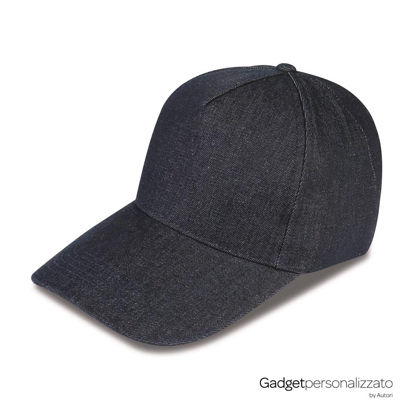 Cappellino 5 pannelli in jeans