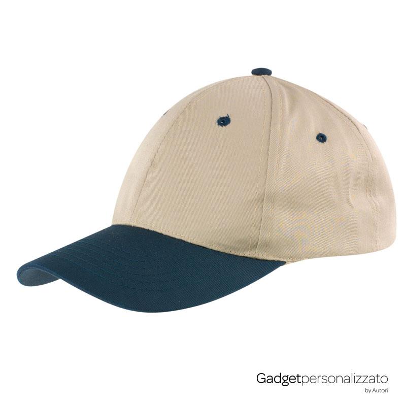 Cappellino 6 pannelli in cotone e poliestere